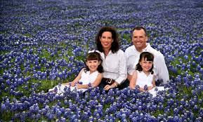 Texas bluebonnets family