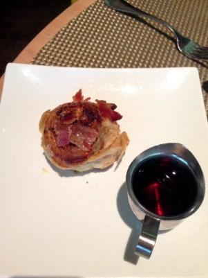 Bacon and maple morning bun