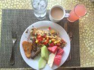 Buffet breakfast.