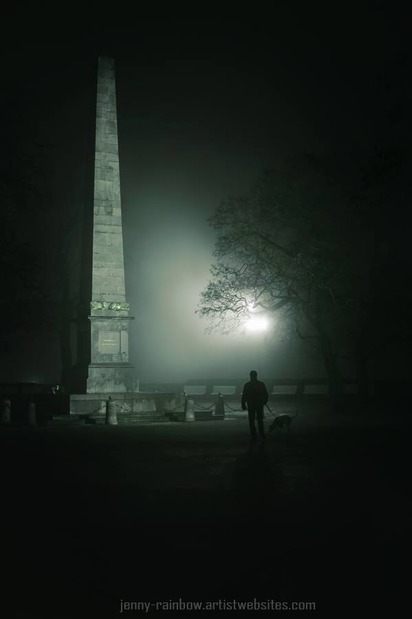 The Brno obelisk, fogged in