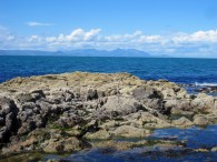 Arran hills from Dunure