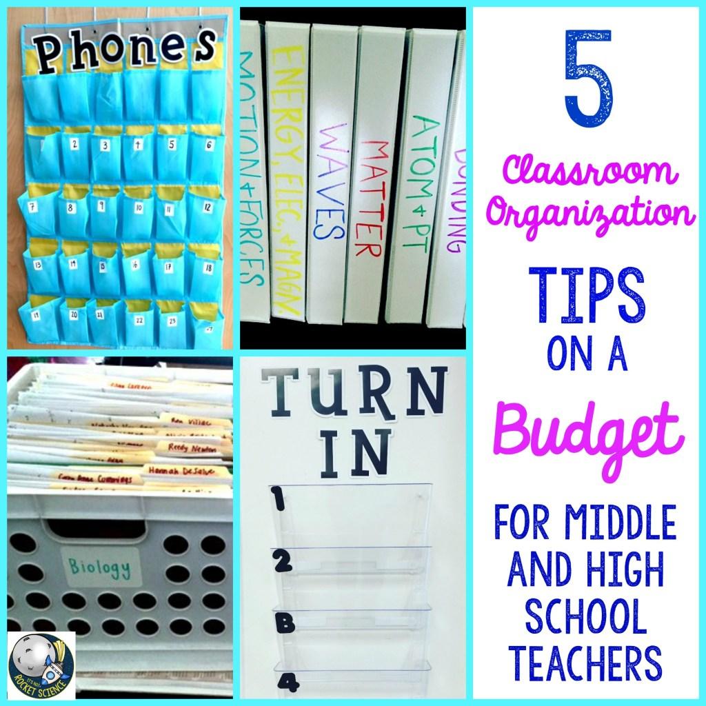 organization ideas on a budget