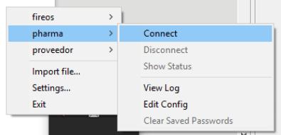 Conexión de OpenVPN