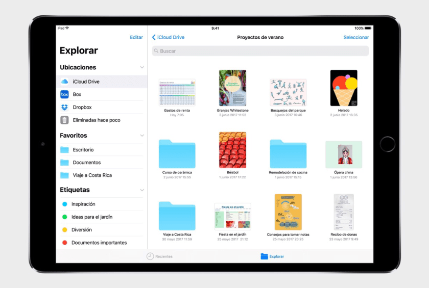 Novedades iOS 11 - Explorador de Archivos