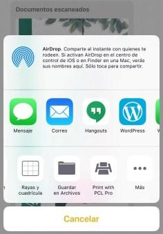 Compartir para imprimir Cloud desde iOS