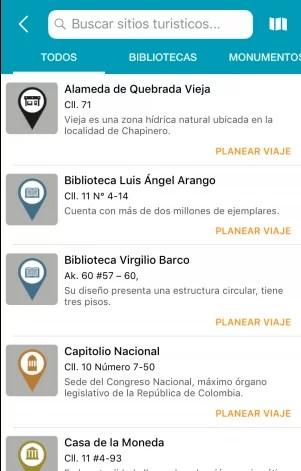 Como llegar a sitios turísticos de Bogotá