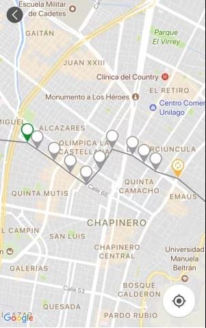 Mapa de llegada a sitio turístico
