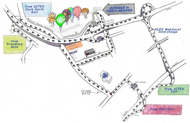 Карта фестиваля