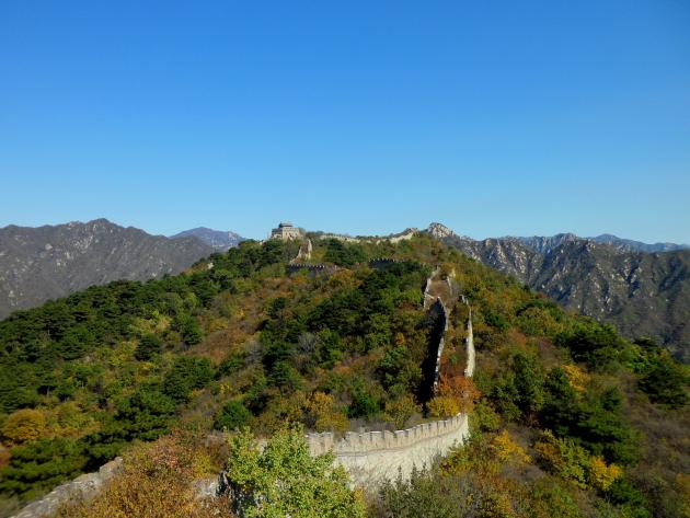 Великая Китайская Стена. Нереставрированные участки. Лес