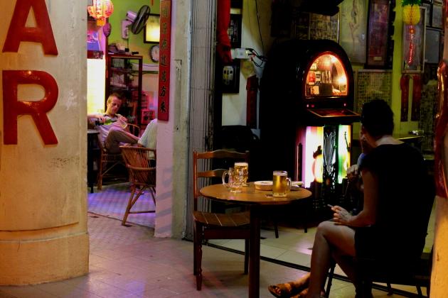 Китайские фонарики Пенанг Бар