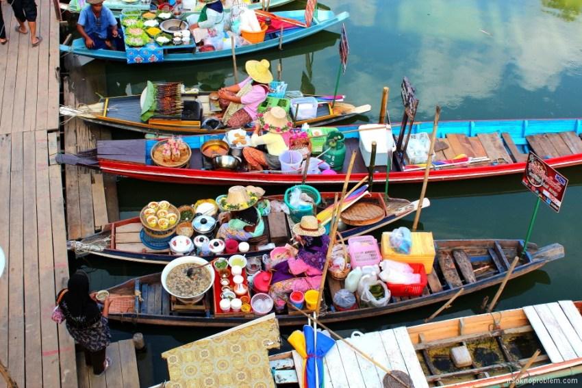 Плавучий рынок, Хат Яй, Таиланд