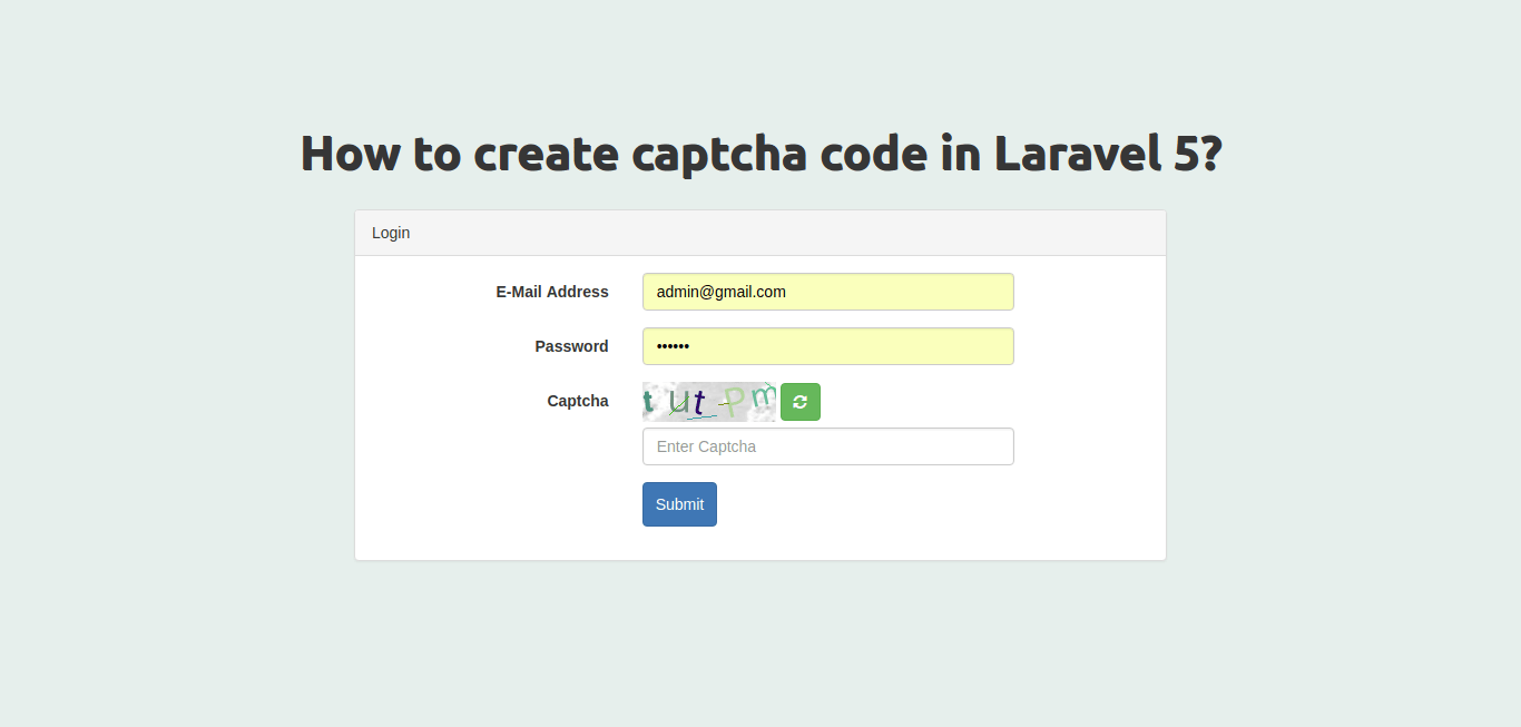 how to create captcha