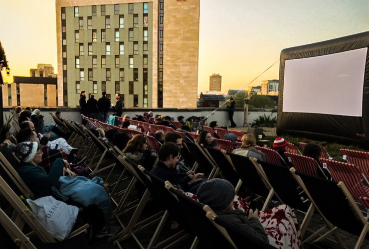 A Sing-along Rooftop Cinema Opens In The Centre of Cardiff