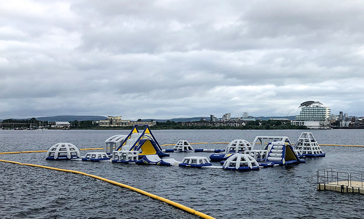 Aqua Park Cardiff opens in June on Cardiff Bay