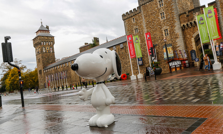 Snoopy's coming to Cardiff