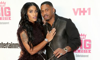 WEST HOLLYWOOD, CA - NOVEMBER 15:  Joseline (L) and Stevie J attend VH1 Big in 2015 With Entertainment Weekly Awards at Pacific Design Center on November 15, 2015 in West Hollywood, California.  (Photo by Frederick M. Brown/Getty Images)