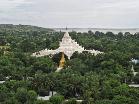 View of Hsinbyume Pagoda from Unfinished Pagoda