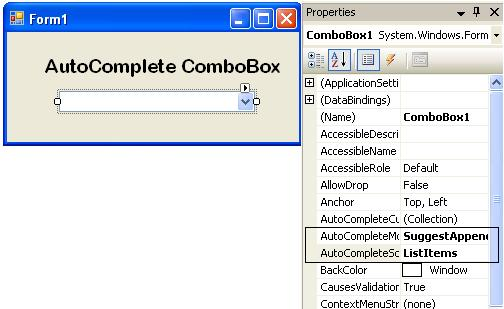 How to Create an AutoComplete in the ComboBox in VB Net and