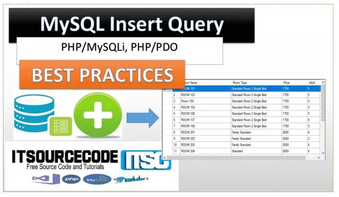MYSQL INSERT QUERY