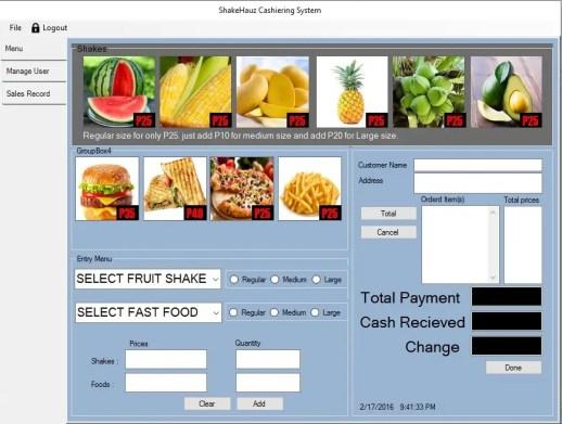 Shakehauz Cashiering System