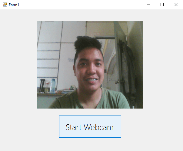 How to function your Webcam on your VB Net Project using Emgu CV