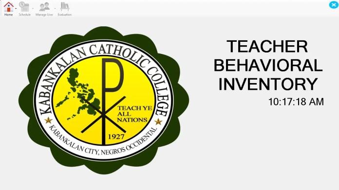 KCC Teachers Behavioral Inventory System Source Code Version 1