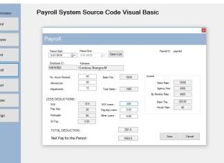 Payroll System Source Code Visual Basic