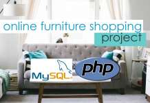 Online Furniture Shopping Project in PHP Free Source Code and Database