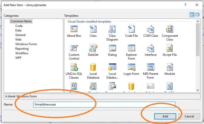 vb.net and mysql database