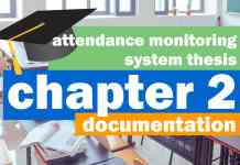attendance monitoring system thesis chapter 2 documentation