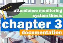 Attendance Monitoring System Documentation | Chapter 3