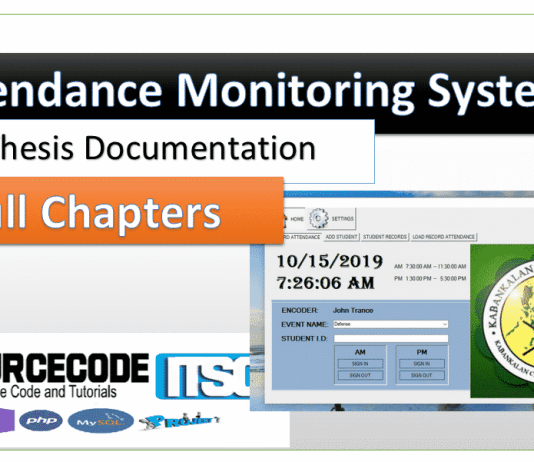 Attendance Monitoring System thesis