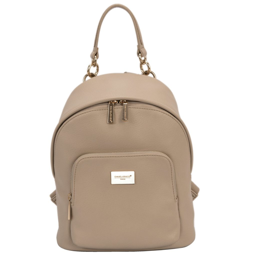 DAVID JONES Faux Leather Medium Chains Backpack  (a premier women's backpack for everyday use)