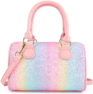 A cute minibag wth beautiful shinny surface and detachable strap.
