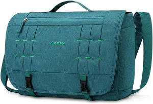 a messenger bag for college that can carry your laptop as well.