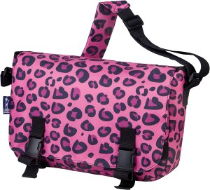 a cute purple colored messenger bag for girls