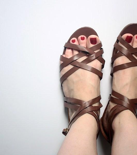 DIY: Wrapped & Pom Pom Sandals