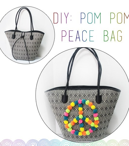 DIY: Peace, Love & Pom Poms