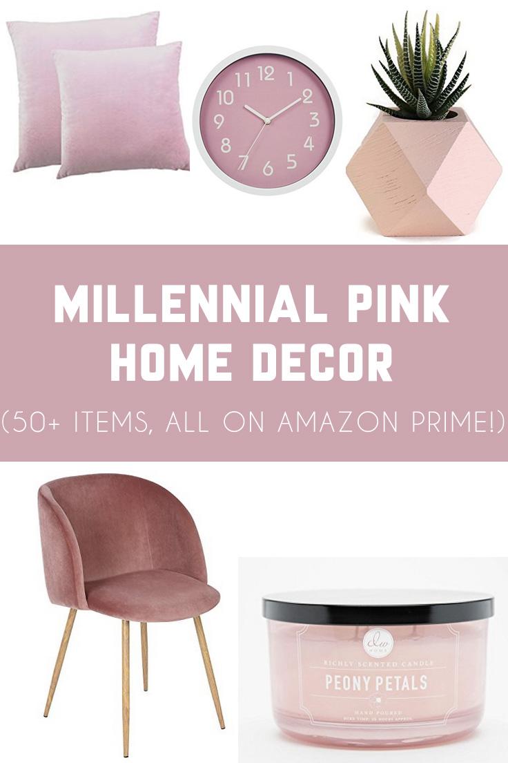 millennial pink home decor
