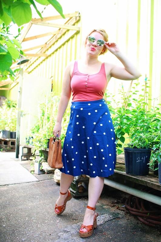 End Of Summer | Polka Dot Skirt & Tank
