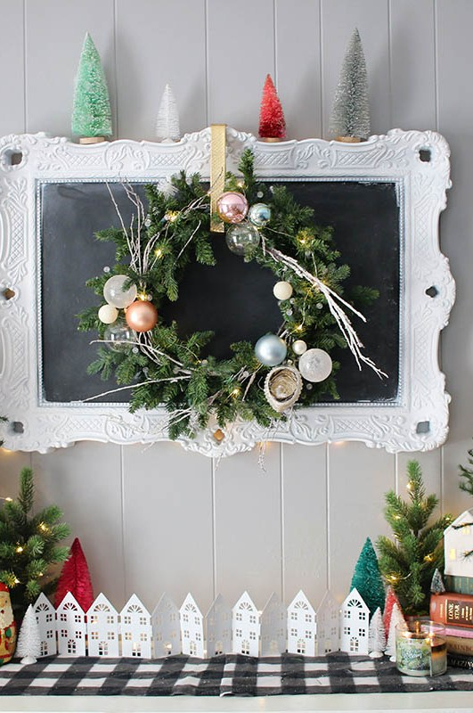 Thrifted & Collected | Living Room Christmas Home Decor