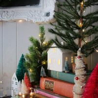 Thrifted & Collected   Living Room Christmas Home Decor