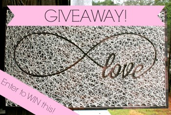 Giveaway! Infinity Love String Art by Distant Realms