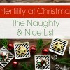 Infertility at Christmas: The Naughty & Nice List