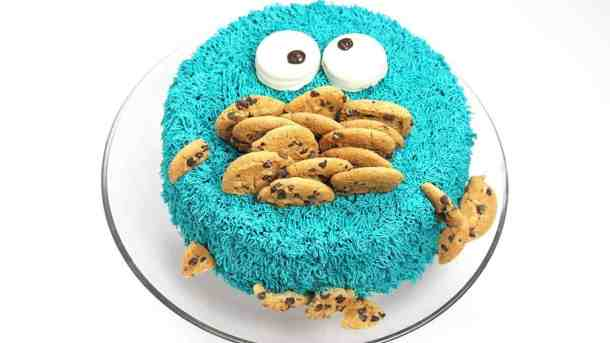 Outstanding Cookie Monster Cake Its Raining Flour Funny Birthday Cards Online Elaedamsfinfo