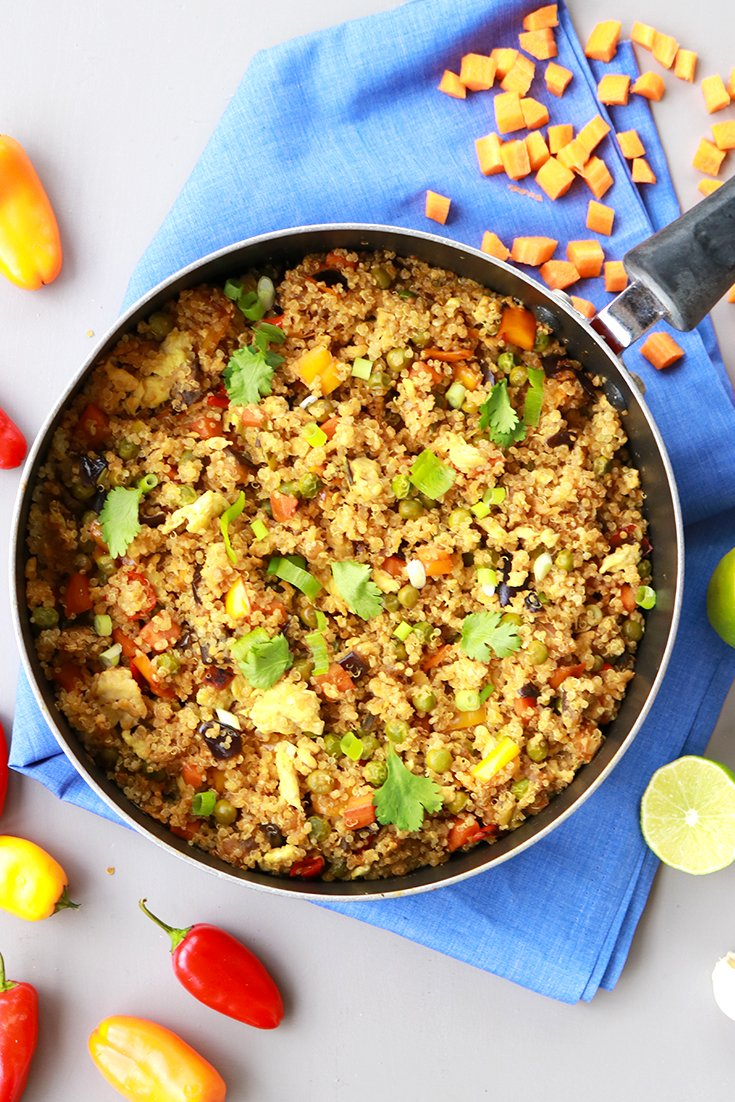 Quinoa fried rice easy and healthy recipes its raining flour quinoa fried rice quinoa fried rice recipe quinoa how to cook quinoa forumfinder Images