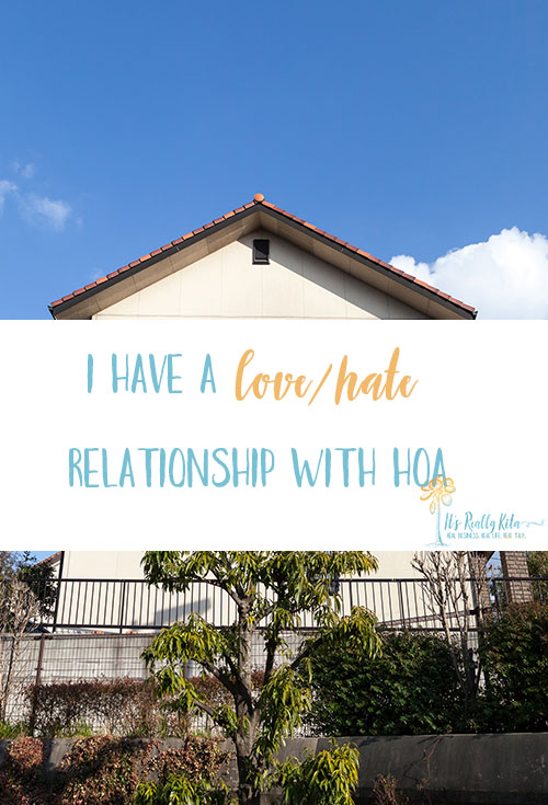 My relationship with HOA