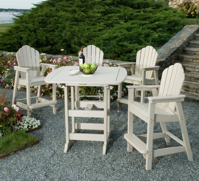 bar height patio chairs papasan chair metal furniture: chairs: adirondack - american recycled plastic: quality outdoor ...