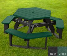 Hexagon Picnic Tables American Recycled Plastic
