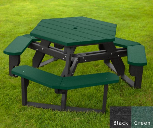 Hexagon Picnic Tables American Recycled Plastic Outdoor Furniture
